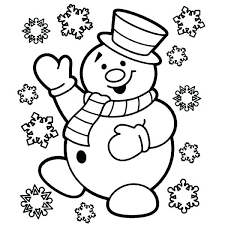 Snowman and Christmas coloring